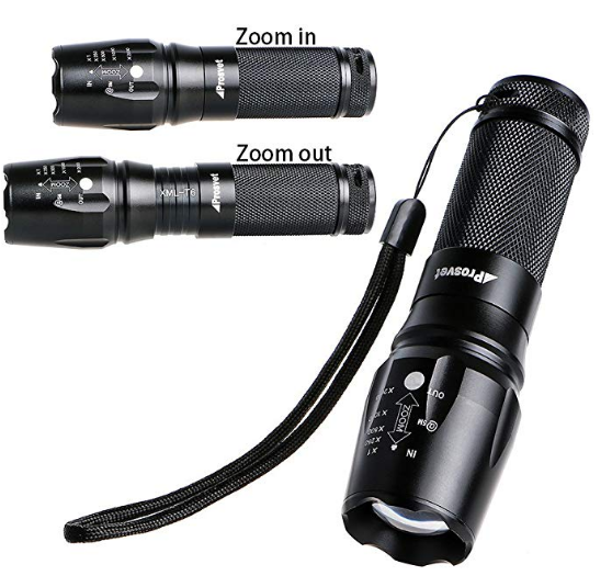 T6 1200 Lumens Led Tactical Flashlight 5 Modes Water Resistant 5 Pack