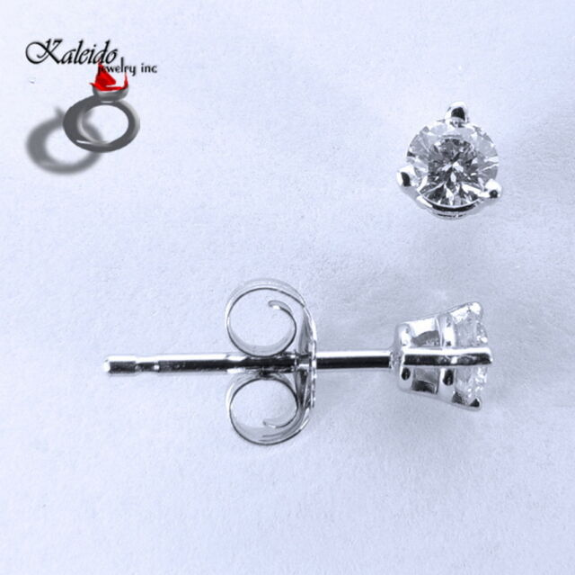 0.23ctw Round Brilliant Cut Canadian Diamond Stud Earrings