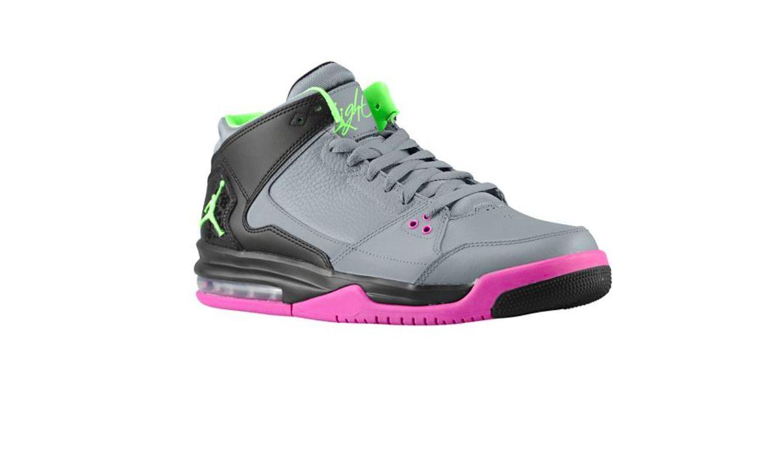 Nike Jordan Flight Origin Men's Basketball shoes - Size 12 (Cool Grey Flash Lime