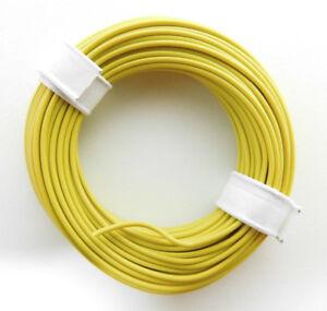 0-189-m-10-m-Litze-Kabel-GELB-z-B-fuer-Maerklin-H0-Modellbahn-oder-n-tt-etc