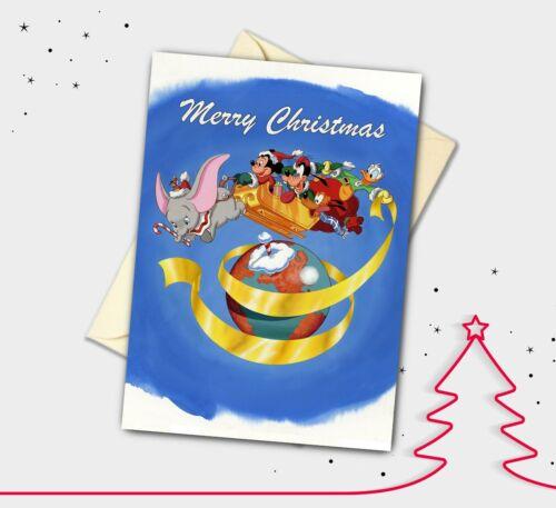 Mickey et amis Carte de Noël Fait main Dumbo