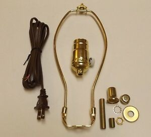 Table Lamp Wiring Kit With Full Range Dimmer Socket 10 Harp Cord