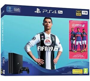 PS4-PRO-1TB-FIFA-19-Console-Bundle-Playstation-4-Nuovo-con-Scatola-Spedizione-in-tutto-il-mondo