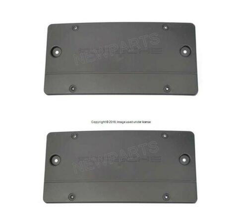 For Porsche Boxster Set of Front /& Rear License Plate Bases Brackets Genuine