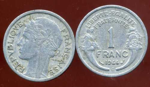 etat FRANCE  WW2  1 franc MORLON  1944 C