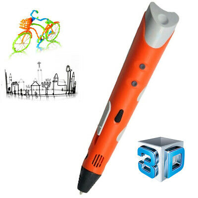Interesting Gifts for All Age LCD Display USB Charging Temperature Control 3D Pen Shallwe Creative 3D Printing Pen with 15 Colors Filament,Compatible with PLA /& ABS