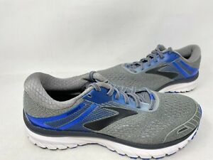 NEW-Brooks-Men-039-s-Adrenaline-2E-Wide-Ahletic-Shoes-Gry-Blu-Blk-11027-197QRS-tk