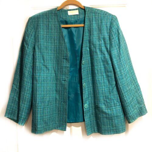 Vintage Pendleton Blue Tweed Blazer Jacket Size XL