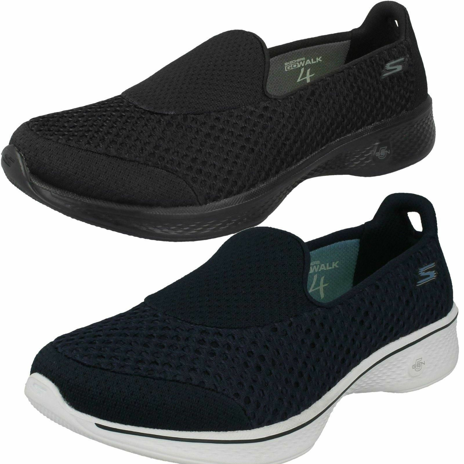 Skechers Go Walk 4 Kindle Femmes À Enfiler Confort Sports Baskets Chaussures 14145
