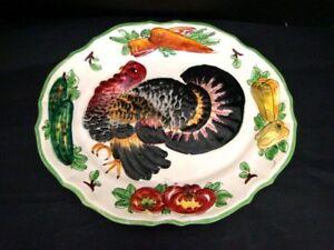 Dish-Ceramics-Drawing-Turkey-Italy-Decorative-L-43-CM