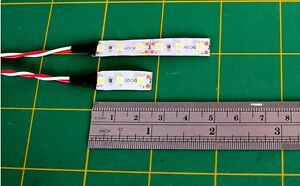 QUALITY-COMPACT-OO-SUBMINI-3-amp-6-LED-9v-12v-SMD-SELFADHESIVE-LOWTEMP-LIGHT-STRIP