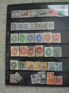 Double Sided Sheet Vintage Early 1900s to 1950s Foreign Postage Stamps Mexico ++
