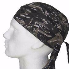 Fitted Bandana Woodland, Bandanna Durag Cap Head Wrap Sun Hat Brown Beige Trees