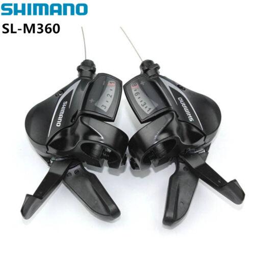 Shimano Alivio SL-M360 3//8//24 Speed MTB Bike Trigger Lever Shifter Black Set US