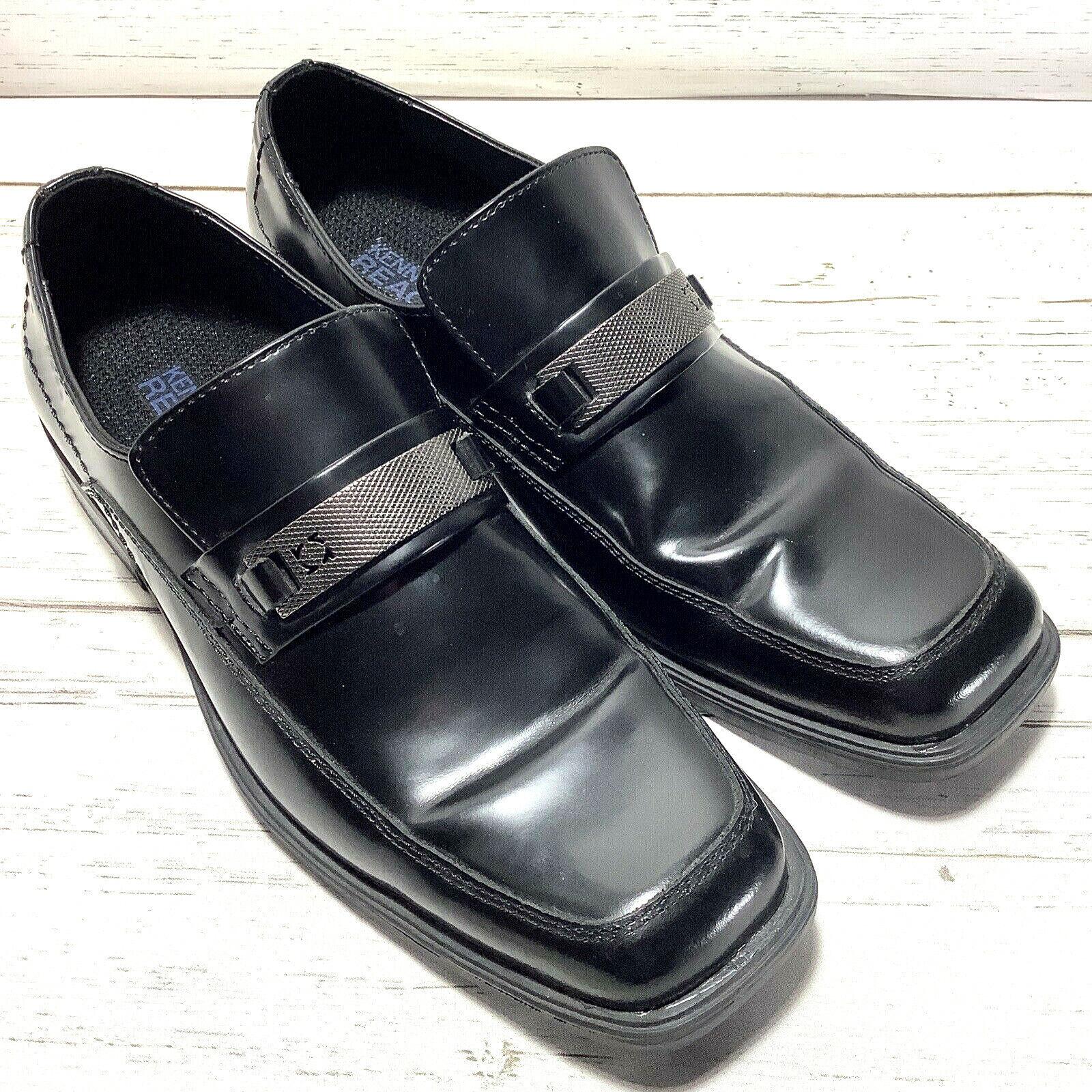 Kenneth Cole Reaction Serve Up Slip On Loafers Men's 8.5 Med Black Dress Shoes