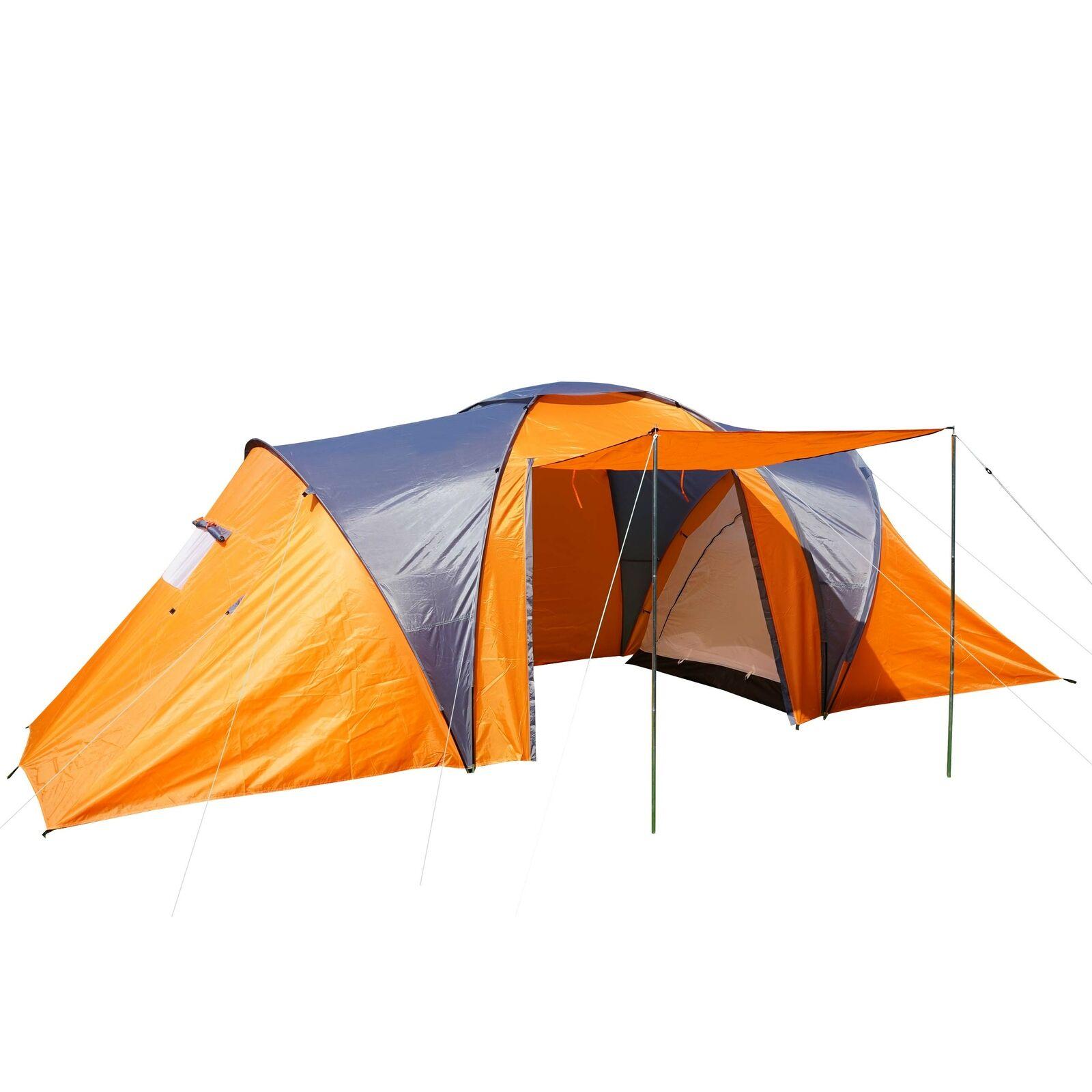 Campingzelt Laagri, 6-Mann Kuppelzelt Igluzelt Festival-Zelt, 6 Personen orange