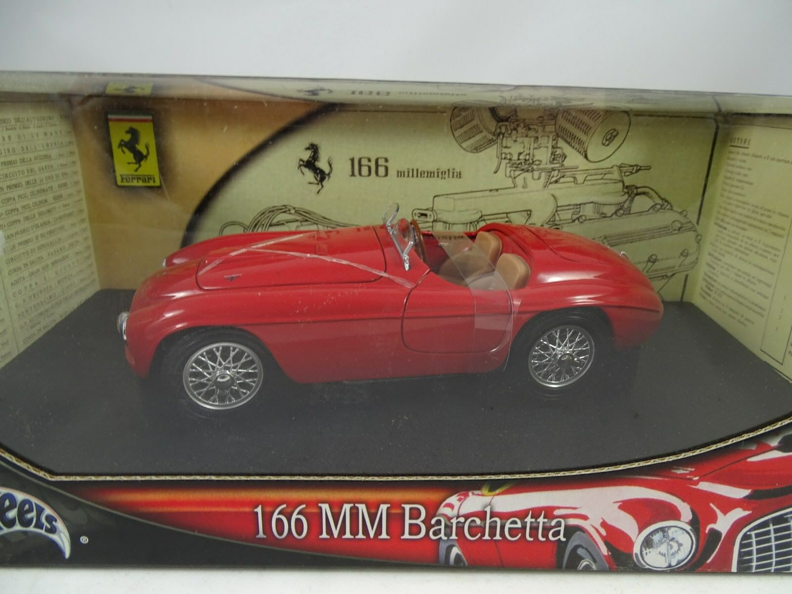Hot Wheels Ferrari 166mm Barchetta Rojo - Rareza