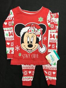 Mickey Mouse Christmas snug fit PJs 12m