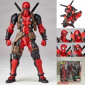 Anime-Super-Hero-Revoltech-DEADPOOL-X-Men-Action-Figure-Toy-Gift-New-In-Box-16cm