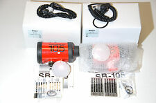 2 New Nikon Nikonos SB-105 flashes / strobes with 2 used sync cords & diffusers.