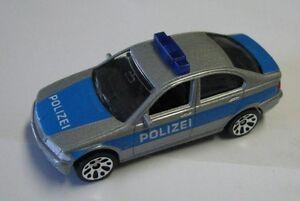 Matchbox-Superfast-1-75-BMW-328i-silber-blau-Polizei-Deutsches-Modell