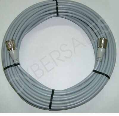 RG8x Coax 50ft Grey CB Ham Coax Antenna Coaxial Cable 50/' Foot PL259 Made in USA