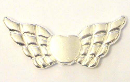 Guardian Angel Fairy Wings Beads Findings Jewellery Making Bright Silver Plated