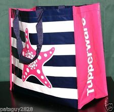 Tupperware Tote Seashore Starfish Reusable Shopping Bag Logo Lot Of 2 Beach New