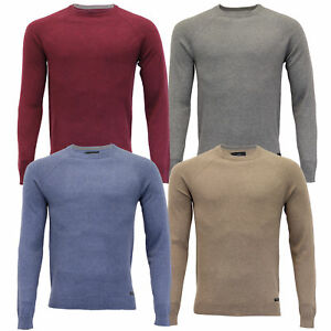 Mens-Jumper-Threadbare-Knitted-Sweater-Pullover-Top-Crew-Neck-Casual-Winter-New