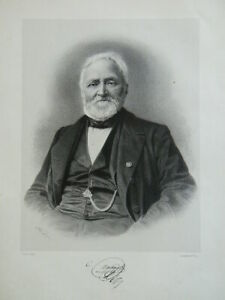 Incisione Ritratto Camille Montagna Naturalista E Mycologue Trinquart 1865