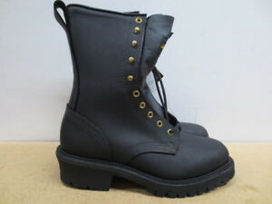 e71fbcb259d Details about Mens Thorogood Black Wildland Fire Fighting Logger Work Boot  Size 9.5 M USA Made