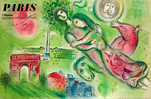 Affiche-Originale-M-Chagall-Opera-Garnier-Paris-Romeo-et-Juliette-1964