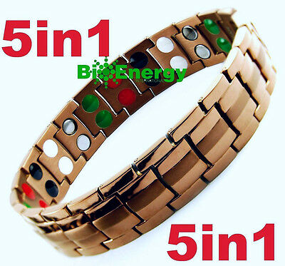 Anion Magnetic Energy Power Bracelet Health 5in1 Bio Armband TITANIUM GERMANIUM