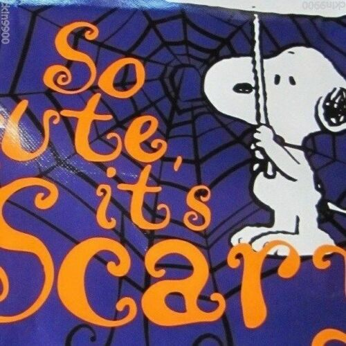 "/""SO CUTE IT/'S SCARY SNOOPY TRICK OR TREAT VYNAL BAG NEW !"