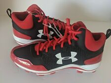 1279395 Under Armour Heater Mid TPU Jr Baseball Shoes