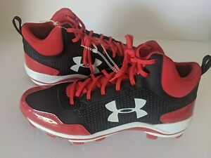 Under Armour Ua Heater Mid Tpu Mens Baseball Cleats Molded
