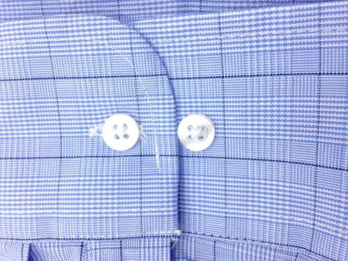 NWT $80 CLUB ROOM Men REGULAR FIT BLUE CHECK PLAID CASUAL DRESS SHIRT 17 34//35