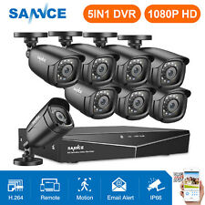 SANNCE 5in1 8CH 1080P HDMI DVR HD 2MP IR CUT CCTV Outdoor Security Camera System