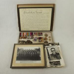 WW2-Medal-Set-Plus-Badges-Photographs-Etc-W-O-II-C-S-M-M-W-F-Pettet-Roy