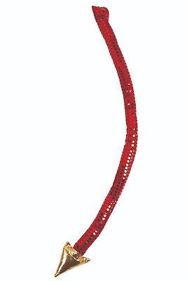 Adulto Diavolo Rosso Coda With Gold Estremità Costume Halloween Accessorio Numerosi In Varietà