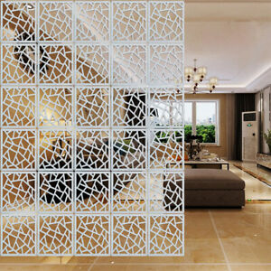 """12 x White Plastic Hanging Screen Room Divider Wall Panels Partition Curtain 15/"""""""