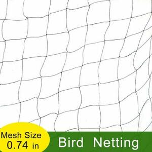 Plants Safety Netting Agfbaric 7/'x20/' Deer Fence Reusable Deer Fencing Black