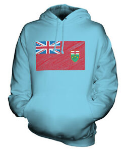 26c0ad3c Details about ONTARIO STATE SCRIBBLE FLAG UNISEX HOODIE TOP GIFT FOOTBALL