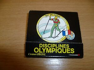 B10-POCHETTE-OU-BOITE-ALLUMETTES-PUB-DISCIPLINES-OLYMPIQUES-SKI-DE-FOND