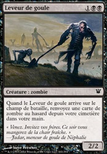 Innistrad FRENCH #102 4x Leveur de goule Ghoulraiser