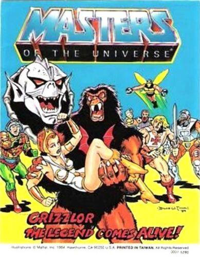 HE-MAN MOTU MINI COMIC GRIZZLOR THE LEGEND COMES ALIVE GIVEAWAY PROMO MASTERS