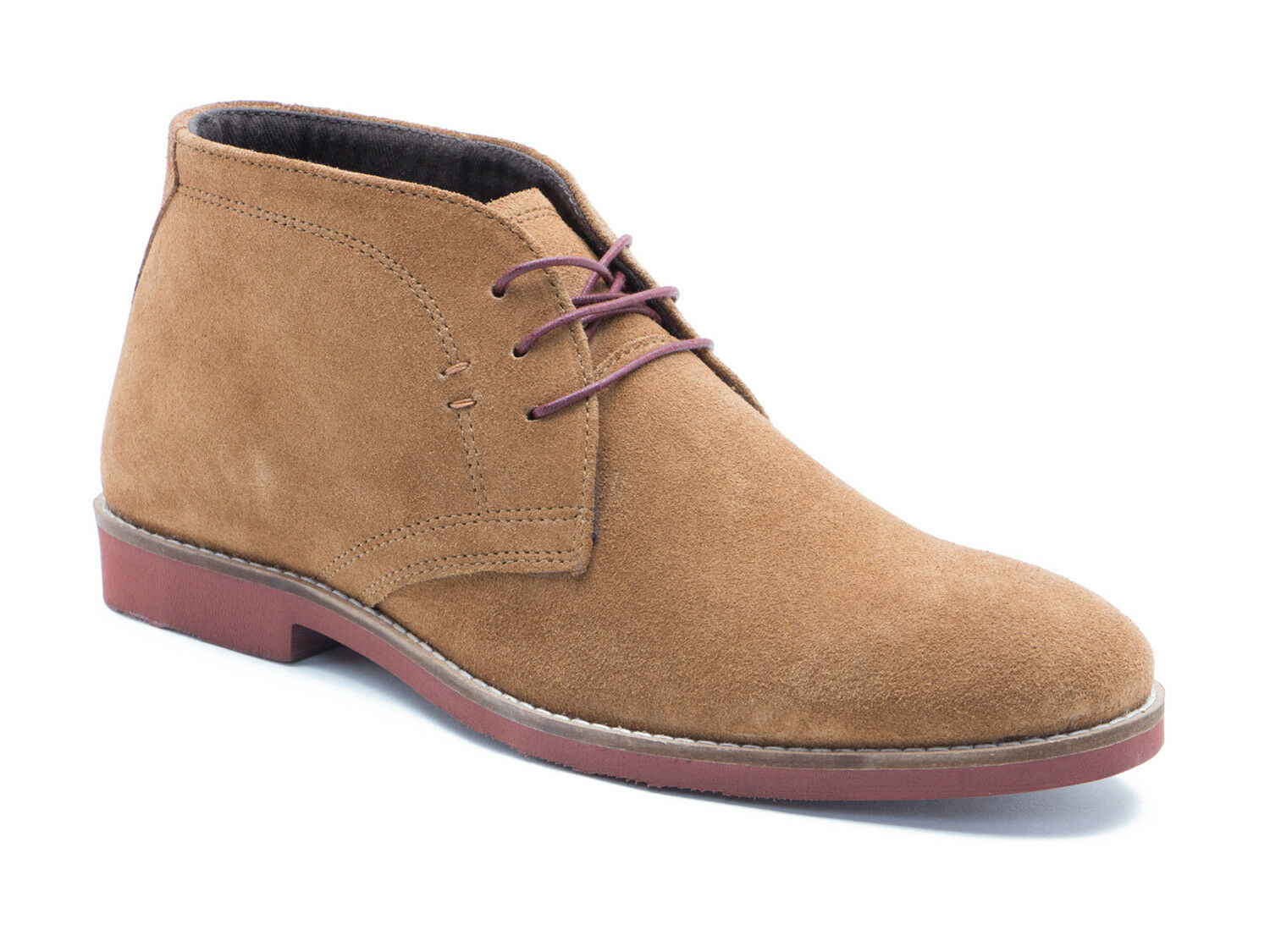 Red Tape Dorney Tan Suede Mens Casual Desert Boots