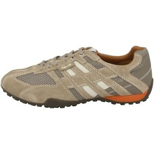 Box Chaussures Serpent Pour Baskets U Cuir K Geox Hommes Beige Plates vIqfR