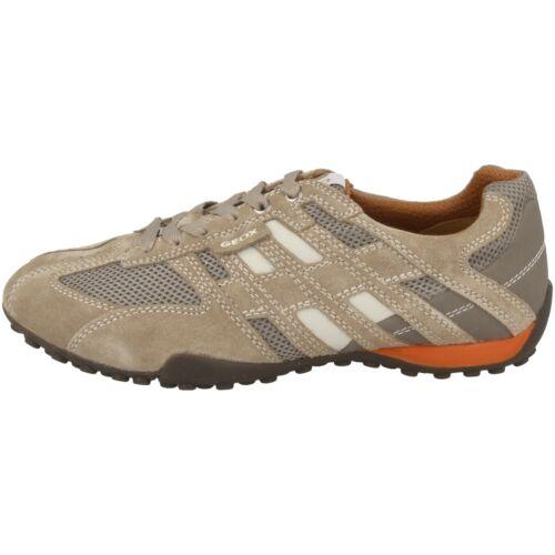 GEOX U Snake K Scarpe Uomo Sneaker IN Pelle Basse Beige Box U4207K02214C0845