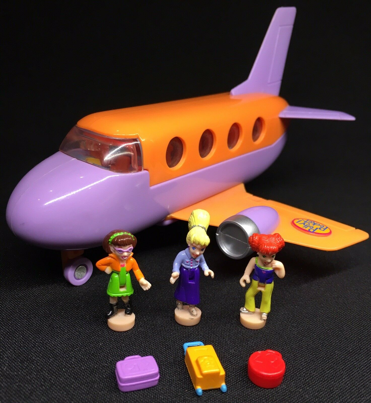Polly Pocket   1998 Polly Pocket Tour Jet - - - Polly and the Pops Flugzeug 3001 41d7be